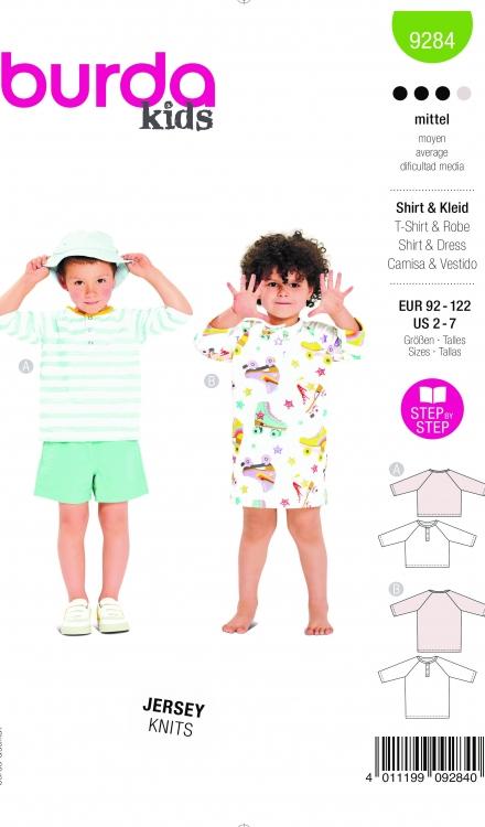 Burda patroon 9284 shirt en jurk