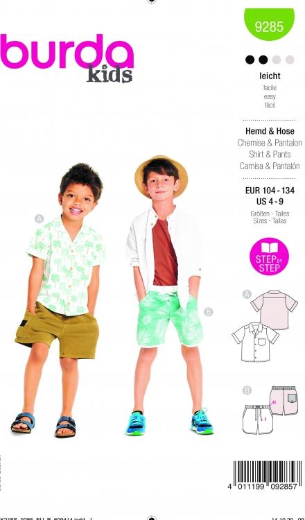 Burda patroon 9285 broek en blouse