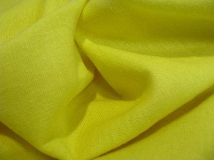Linnen met viscose geel uni