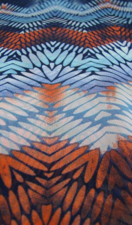 Polyester zigzag fantasie Gossypium