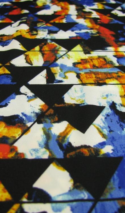Tricot driehoek fantasie Gossypium