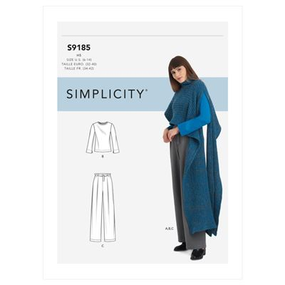 Simplicity patroon S9185 top, pantalon en cape